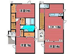 [テラスハウス] 北海道札幌市豊平区月寒西四条7丁目 の賃貸【/】の間取り