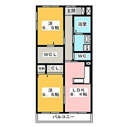ココモ岡田[3階]の間取り