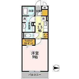 Vivace川崎[1階]の間取り