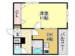 シティーガーデン平野[5O1号室号室]の間取り