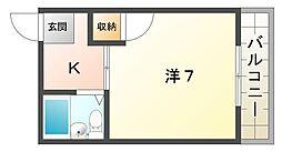 ハイツスワン[4階]の間取り