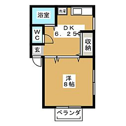 LE・FOSSE[1階]の間取り