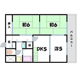 タイハイツ桜宮[2階]の間取り