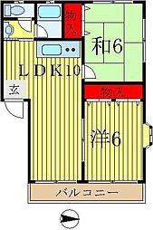 コーポラスNO5[1階]の間取り