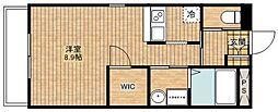 C&D apartment[205号室]の間取り