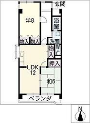 シャトースサキI[4階]の間取り