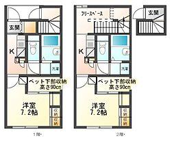 兵庫県豊岡市昭和町の賃貸アパートの間取り