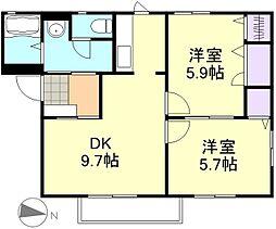 NEOクラレッドシティA棟[2階]の間取り