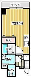 名古屋市営東山線 本山駅 徒歩6分の賃貸マンション 4階ワンルームの間取り