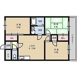 735柳ビル[4階]の間取り
