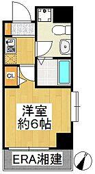 グリフィン横浜・東白楽[405号室]の間取り