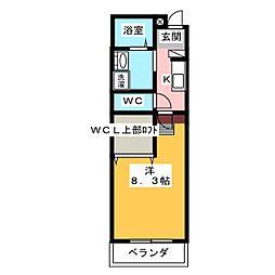 ルチェーレ宮ヶ崎[1階]の間取り