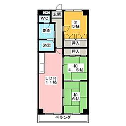メゾン大殿[5階]の間取り