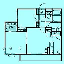 ミュールブランI[1階]の間取り