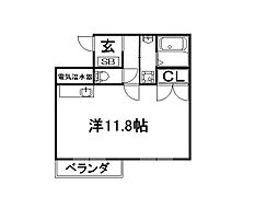 ファミネス上殿田[3階]の間取り