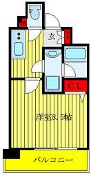 HY's NORTH TOKYO RESIDENCE 6階1Kの間取り