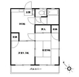第2富士見ハイツ[205号室号室]の間取り