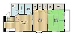 第二今井ビル[201号室]の間取り