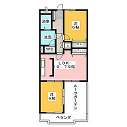 荘苑星ヶ丘[4階]の間取り