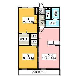 Hana Hana[2階]の間取り