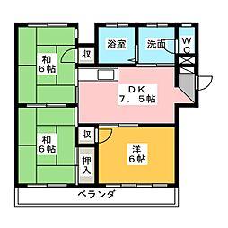 サンシャイン大塚[3階]の間取り