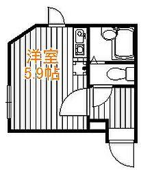 東京都葛飾区小菅4丁目の賃貸アパートの間取り