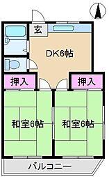 メゾン森I[2階]の間取り