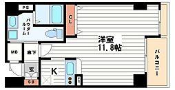 ダイドーメゾン大阪御堂筋[7階]の間取り