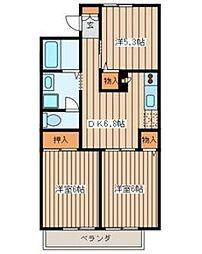 グランディールシェルA[2階]の間取り