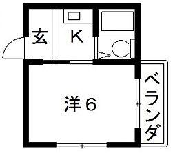 ハイム山之内[3階]の間取り