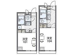 Osaka Metro谷町線 長原駅 徒歩5分の賃貸アパート 2階1Kの間取り
