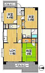 フローラル・ティアラ大泉[4階]の間取り