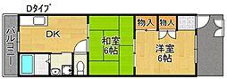 粋緑館[1階]の間取り