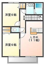 セレーノ参番館[2階]の間取り