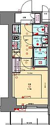 JR山陽本線 兵庫駅 徒歩2分の賃貸マンション 15階1Kの間取り