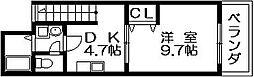 アーク島之内 島之内1 吉田10分[2階]の間取り