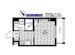 東京都板橋区南常盤台1丁目の賃貸マンションの間取り