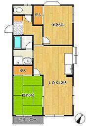 タチカワテラスハウス[2階]の間取り