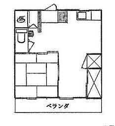 石川ビル[502号室号室]の間取り