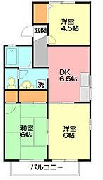 神奈川県藤沢市本藤沢2丁目の賃貸アパートの間取り
