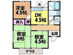 [一戸建] 愛媛県松山市余戸中3丁目 の賃貸【/】の間取り