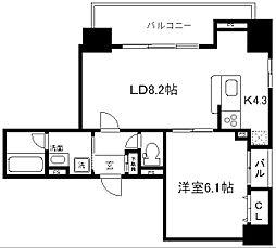 ALTA京都堀川ウインドア[603号室]の間取り