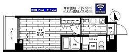 JR山手線 上野駅 徒歩8分の賃貸マンション 3階1Kの間取り