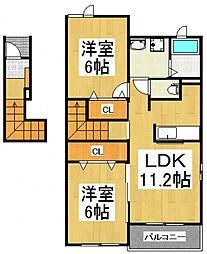 ガーデンハウスT.Y.I[2階]の間取り