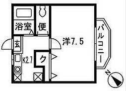 シェソワ鵠沼[1階]の間取り
