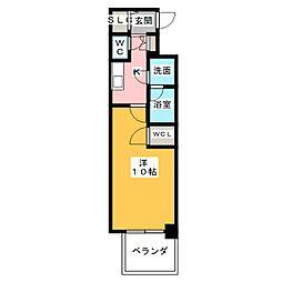 プレサンスジェネ千種内山II[9階]の間取り