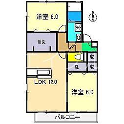 カーサクレール A棟[1階]の間取り