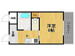 ハッピー伊丹マンション[3階]の間取り