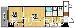 ロイヤル呉服[15階]の間取り