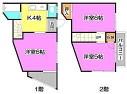 [一戸建] 埼玉県志木市中宗岡5丁目 の賃貸【/】の間取り